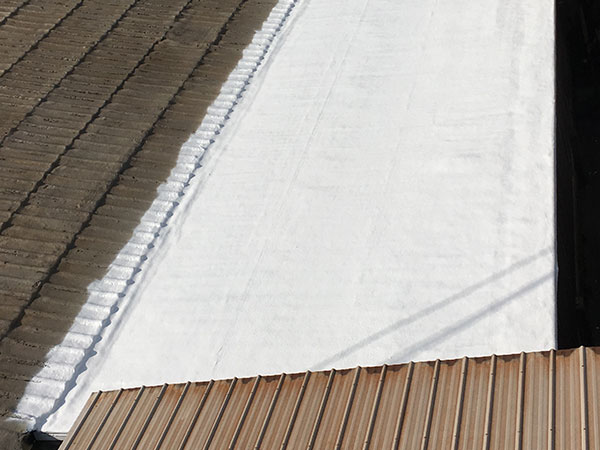 Commercial roof after its been restored with an SPF foam system