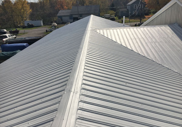 Metal Roof Restored By Keystone Commercial Roofing