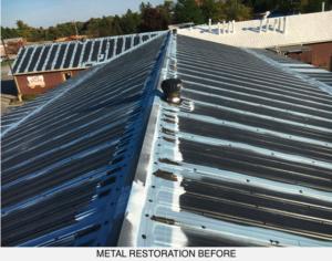 metal roof before roof coating