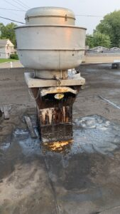 grease output on restaurant roof