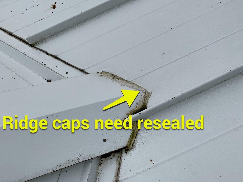 ridge caps need resealed