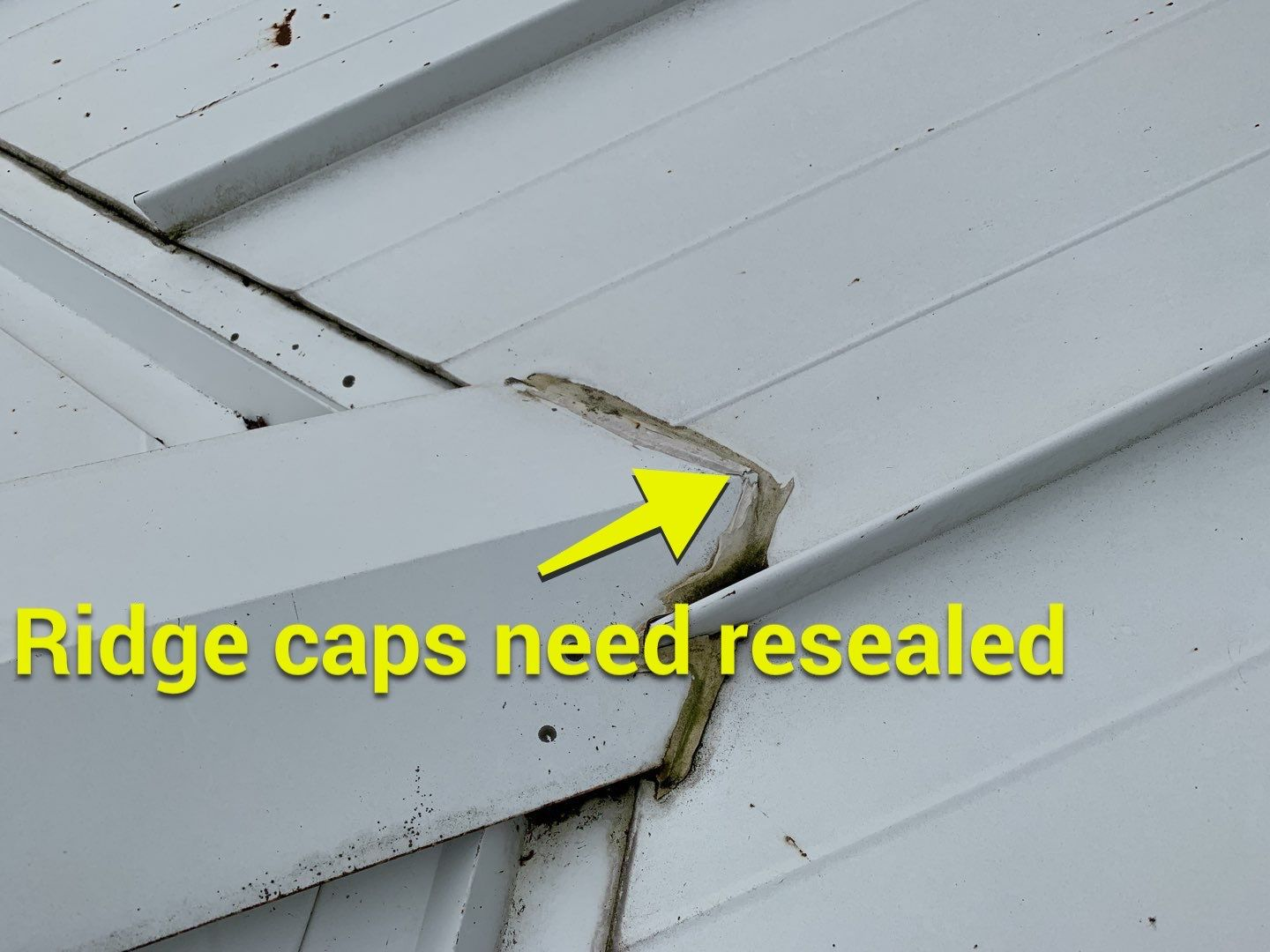 ridge caps need resealed