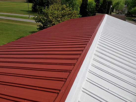 a recently replaced commercial roof