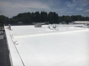 EPDM roof restoration by Keystone Commercial Roofing in Conneautville, PA