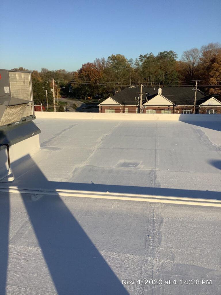 evolution construction services roofing membrane restoration project