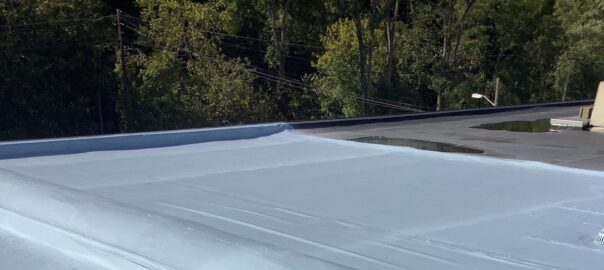 acrylic coating on a commercial roof near Pittbsurgh, PA