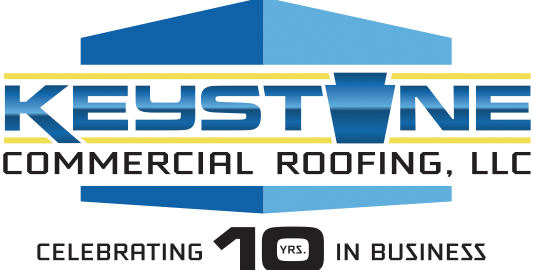 10 Year Anniversary Keystone Commercial Roofing logo